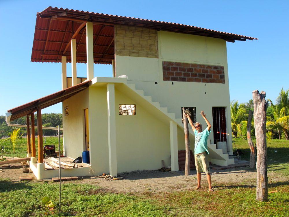 Beach House Progress Plycem Walls And Bamboo Siding