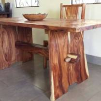 The awesome dining table that Kim made